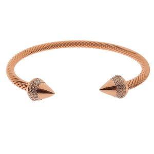 18k Rose Gold Pave Spike Bracelet -J022-J094